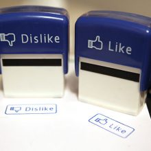 Facebook like and dislike stamps NovaLoca blog pointless office accessories
