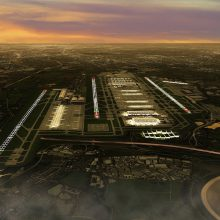 Artist impression Heathrow third runway