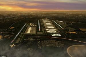 Artist impression Heathrow third runway