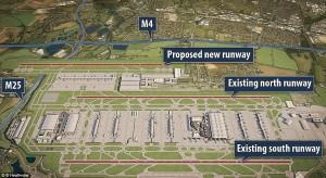 Proposed new Heathrow runway