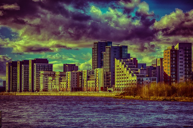 glasgow in negative colours
