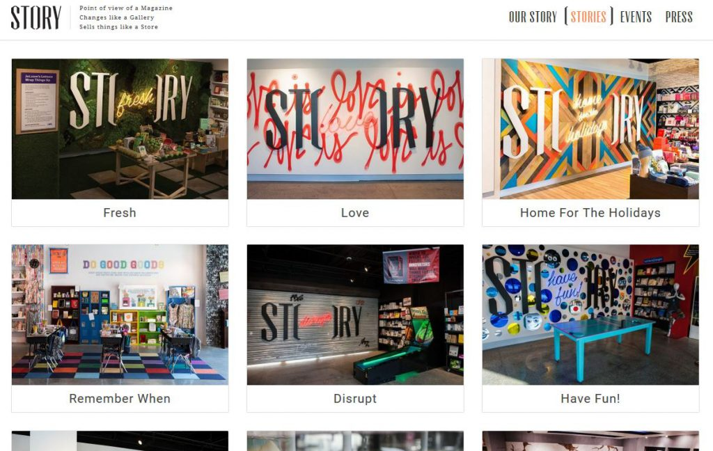 The various designs of Story store in New York