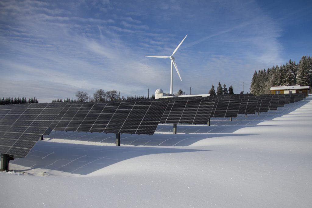 Solar panels, wind farms, renewable energy