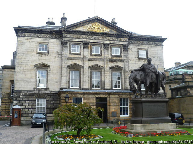 The Registers in St Andrews Square, Edinburgh. With a lovely horse statue
