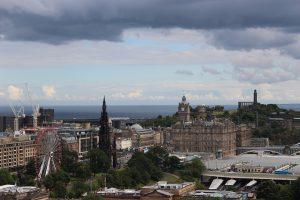 rooftop view of Edinburgh city