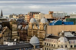 Rooftop view of Glasgow City