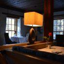 lamp lit restaurant