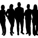 silhouttes of people