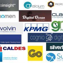 display of web developers logos