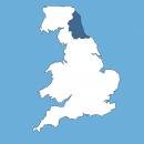 north east UK map