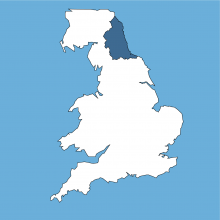 north east UK map