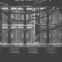 cables in the back of a computer