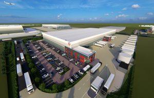 ogistics Park East Midlands Gateway aerial image