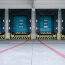 a row of warehouse doors