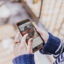 mobile phone showing instagram app