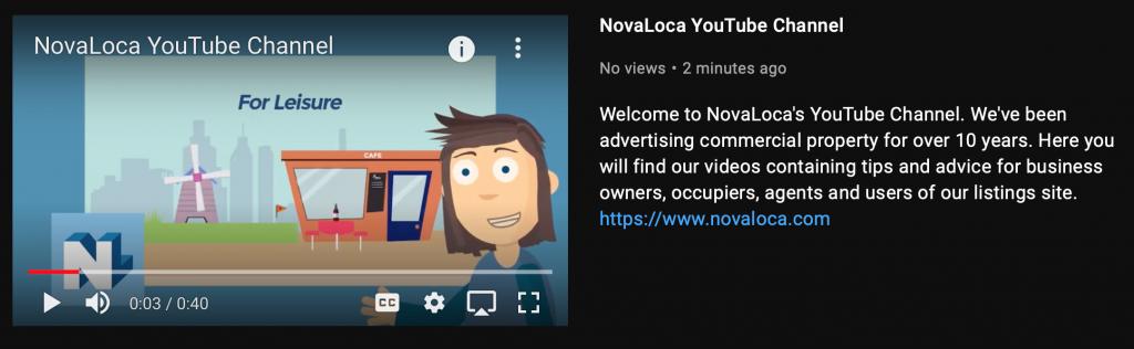 youtube channel trailer screenshoot