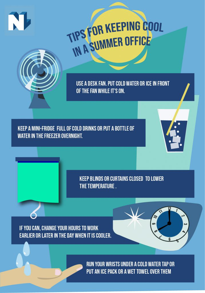 infographic listing tips to keep cool