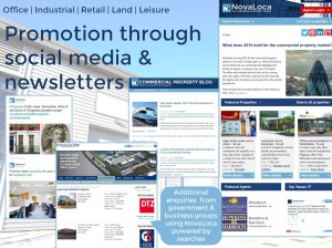 Promotion through Social Media and newsletters