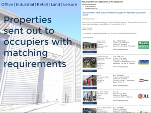 Properties sent out to occupiers with matching requirements